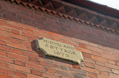 Old timer: The plaque on the front of 3 Avenue Road Extension, one of the oldest buildings in Clarendon Park
