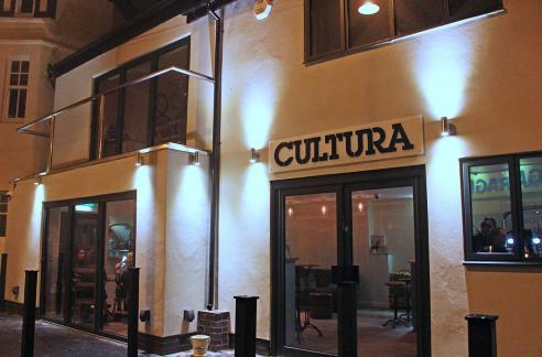 Keeping it simple: from outside Cultura has a clean and minimal look