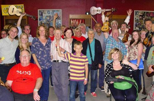 Mark Ferrier's fun and sociable ukulele classes appeal to all ages