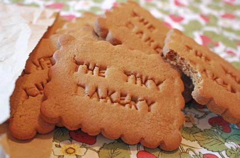 Branding it up to the max: The Tiny Bakery's ginger biscuits are delicious dunkers