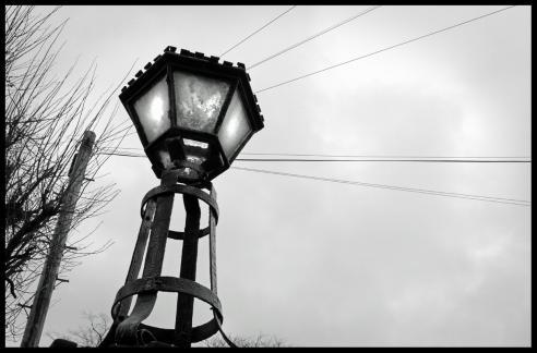 Lamp outside Clarendon Park Congregational Church, Leicester