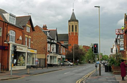 A photo of Clarendon Park Road, Leicester, taken in 2016