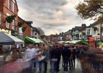 Street fair on Queens Road, Clarendon Park, Leicester