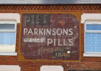Ghost sign in Clarendon Park, Leicester - Parkinsons